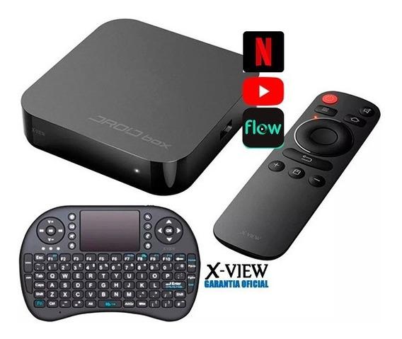 Droid Box Plus X-view Smart Tv Android + Teclado Inalambrico