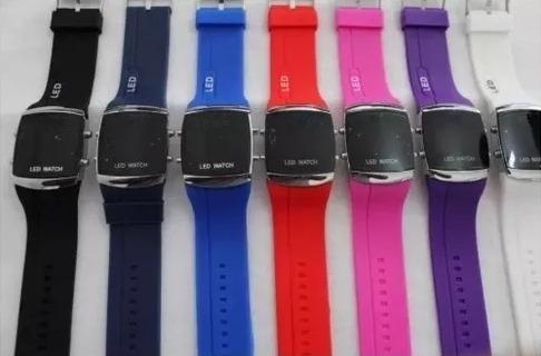 3x Relógio Dia Noite Digital Silicone Borracha Led Promoção