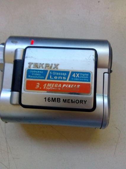 Filmadora Tekpix 3.1 Mg, 16 Mb Memoria, Cartao De 1 Gb Memor