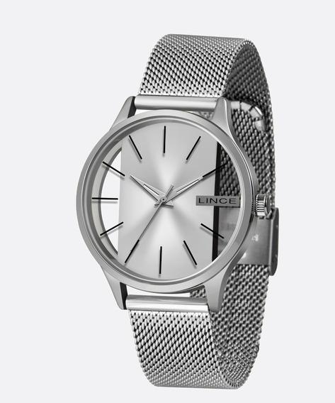 Relógio Lince Feminino Analógico Prata Transparente Lrm624l