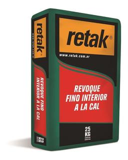 Revoque Interior Fino A La Cal X 25k Retak