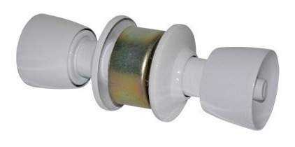 Fechadura Divisória Cilindrica Tubular 90mm Gold Branca