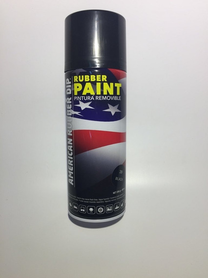 American Rubber Paint Dip Vinilo En Aerosol Negro Satinado