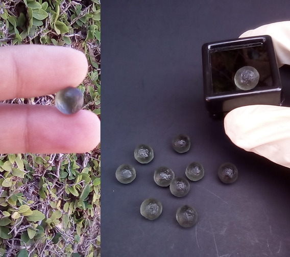 1 Moldavita 4.5 Quilates Impacto Meteorito Esfera Natural