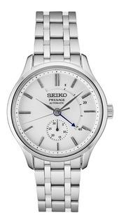 Reloj Hombre Seiko Automatico Presage Fondo Blanco Ssa395