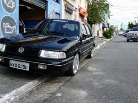Volkswagen Santana Preto Exclusiv 96 Ap 1996 Turbo 4 Porta
