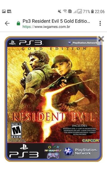 Resident Evil 5 Ps3 Mídia Digital Psn