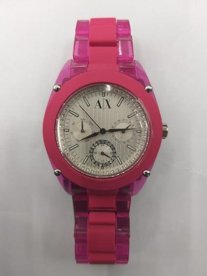 Relógio Armani Exchange Feminino Uax5037n Original Barato