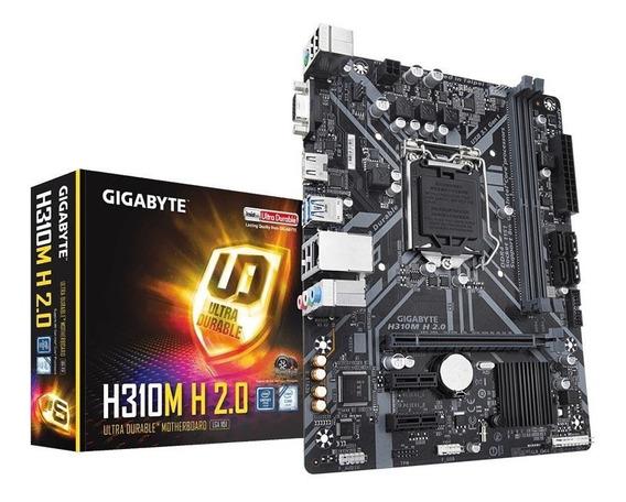 Placa Mãe Gigabyte H310m H 2.0 Intel I!