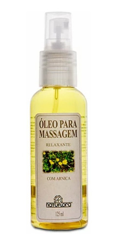 Óleo Para Massagem Com Arnica Relaxante Corporal Natuflora