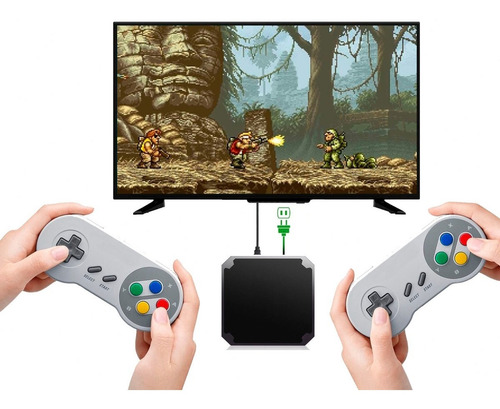 7000 Juegos Consola Retro Arcade Hdmi Tv Ness Dos Jugadores