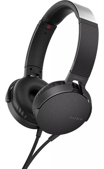 Fone De Ouvido Sony Bass Com Microfone Mdr-xb550 Preto