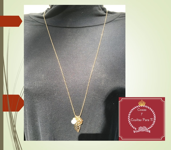 Collar Dorado Dijes Mano De Fatima Corazon Marca Hype Oferta