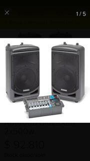Sistema De Sonido Portartil Samson Xp1000b Bluetooth 2x500w