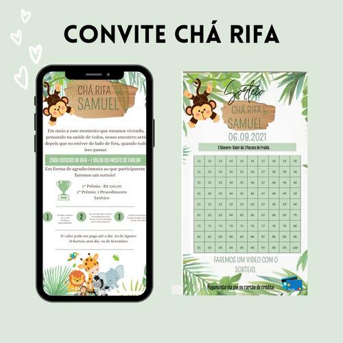 Convite Digital Chá Rifa