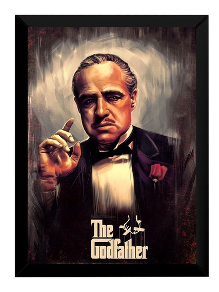 Quadro The Godfather O Poderoso Chefão Arte Poster Moldurado
