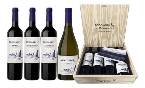 Imagen 1 de 7 de Vino Zuccardi Q Mix 750cc Estuche X 4 Botellas Regalo