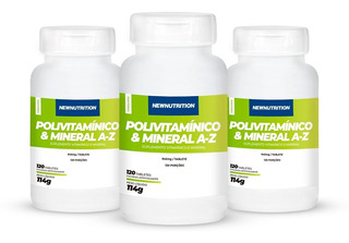 Combo 3 Multivitamínico De A-z Newnutrition 120 Tabs