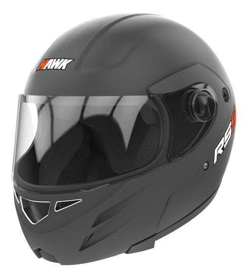 Casco Moto Hawk Rs5 Rebatible Negro Mate Tienda Oficial