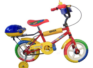 Bicicleta Rod 12 C/guard. Consola Y Porta Paq. Con Baúl C/eg