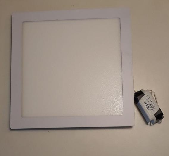 Kit 4 Painéis Led - Quadrado 25w Branco Quente