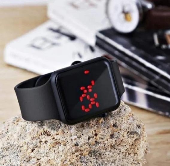 Relógio Digital Led De Pulso Masculino Feminino Preto Barato