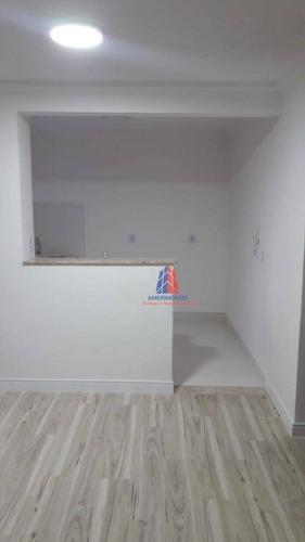 Apartamento Com 2 Dormitórios, 47 M² - Venda Por R$ 185.000 Ou Aluguel Por R$ 685/mês - Parque Áustria - Jardim Bertoni - Americana/sp - Ap1130