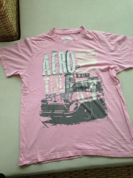 Camiseta Aéropostale Rosa Original Importada