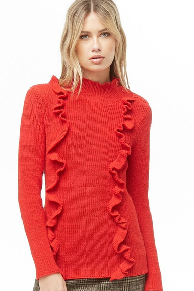 Sweater Forever 21 Color Rojo Talle L