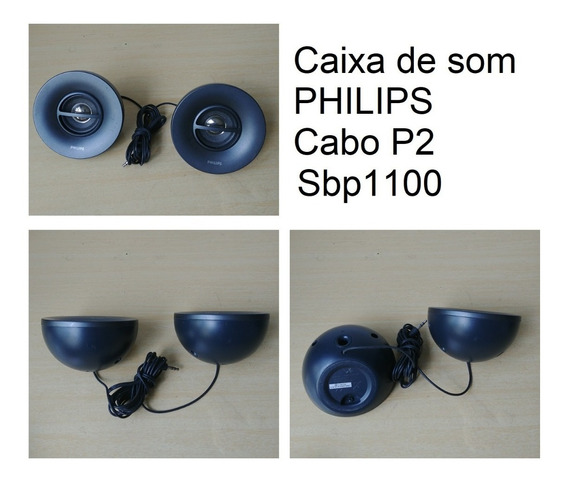 Mini Caixa De Som Philips P2 Par Estero Sbp1100