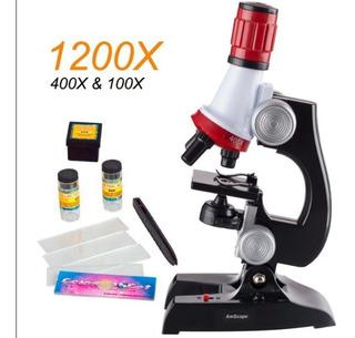 Microscopio Educativo Para Niños + Brujula Cartografica