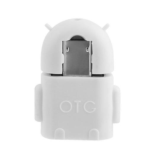 Adaptador Otg Robot Micro Usb 2.0 Macho A Usb Hembra Tablet