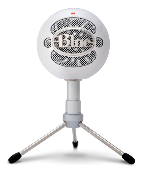 Microfone Blue Snowball Ice cardióide branco