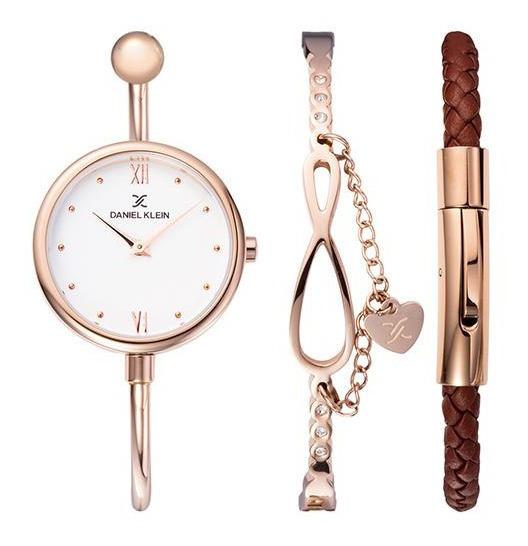 Relógio Analógico Daniel Klein Gift Set Dk12033-2 + Pulseira