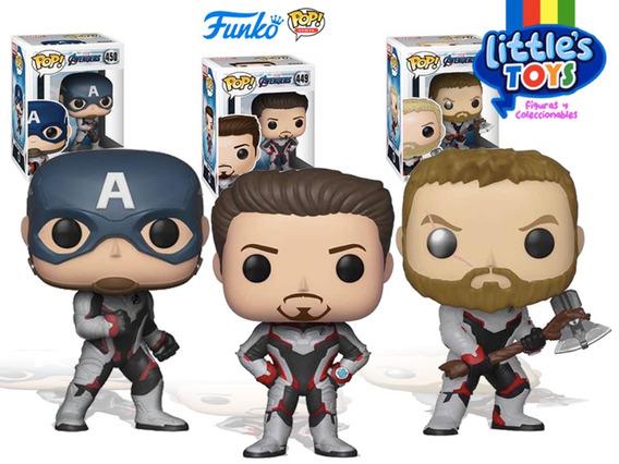 Funko Pop Avengers Endgame Tony Stark Capitan America Y Thor