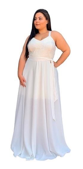 Vestido De Noiva Simples Plus Size 8 Cores Tamanhos Até 58