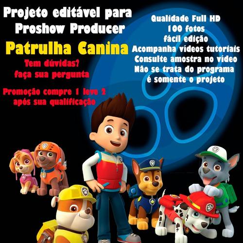 Imagem 1 de 10 de Projeto Proshow Producer Retrospectiva Patrulha Canina