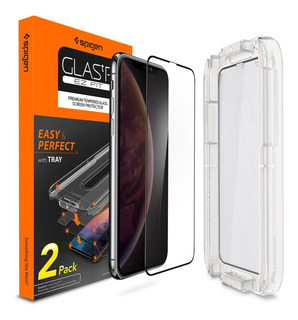 Pack 2x Pelicula Spigen iPhone X Xs 11 Pro 5,8 Full Cover