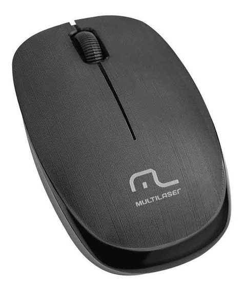 Mouse Multilaser Sem Fio 2.4 Ghz 1200 Dpi Usb Preto Mo251