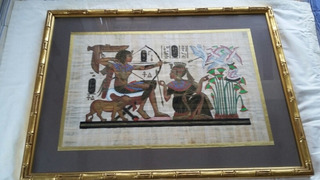 Cuadro Papiro Certificado Original