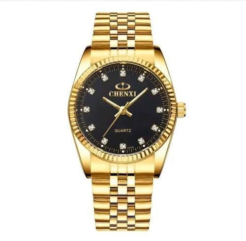 Relógio De Pulso Dourado Chenxi Luxo Feminino Grand Original