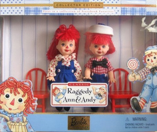 Barbie Raggedy Ann - Andy Tommy - Kelly Storybook Collectibl