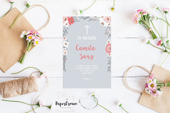 Tarjeta Imprimible Comunion/bautismo - Mod. 15