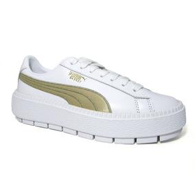 83ddedd6 Zapatillas Puma Blancas Y Doradas - Zapatillas Puma de Mujer en ...