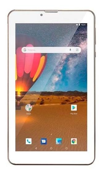 Tablet Multilaser 3g M7 Plus Dual Chip 16gb Quad Core Dourad