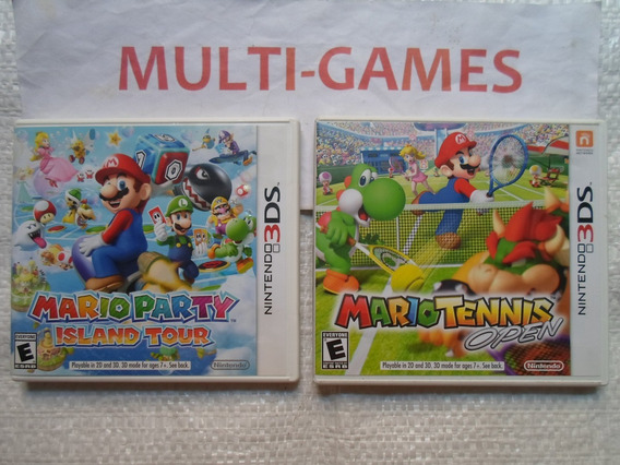 Mario Party + Mario Tennis Open Nintendo 3ds.