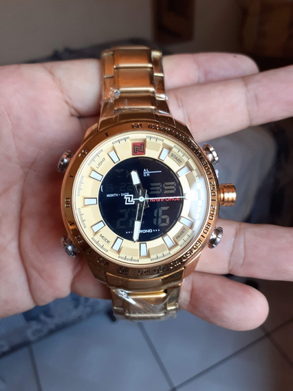 Naviforce 9093 Relógio Negocial Masculino - Dourado