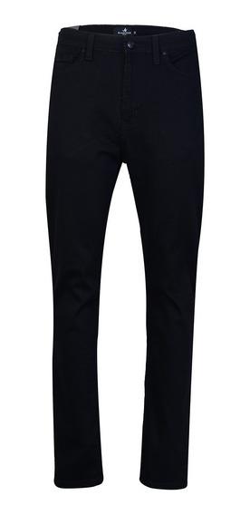 Jean Pantalon Hombre Negro Corte Slim Fit Moda Brooksfield