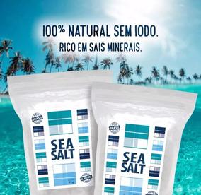 Sal Marinho De Mossoró In Natura - 100% Integral ( 20 Kg)