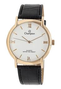 Relógio Original Mondaine Folhado A Ouro Pulseira Couro